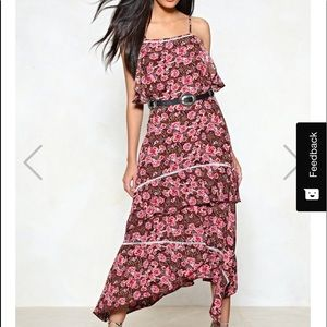 Nasty gal La Vie En Rose midi dress